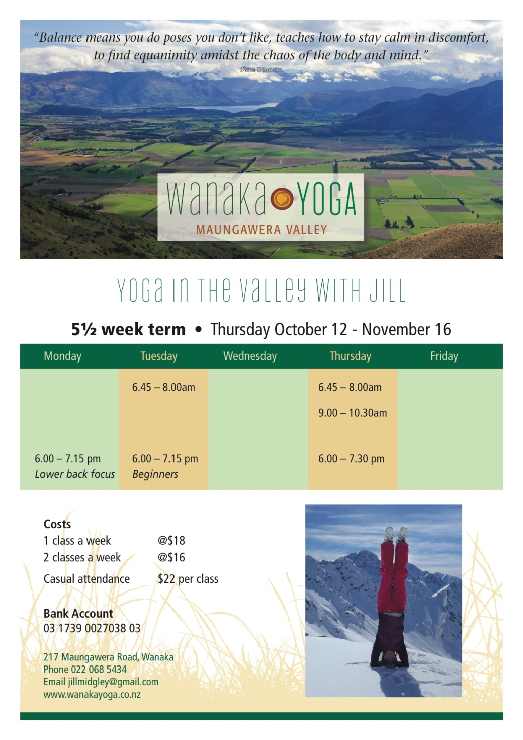 Wanaka Yoga Oct