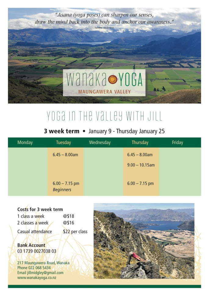 Wanaka Yoga timetable Jan copy