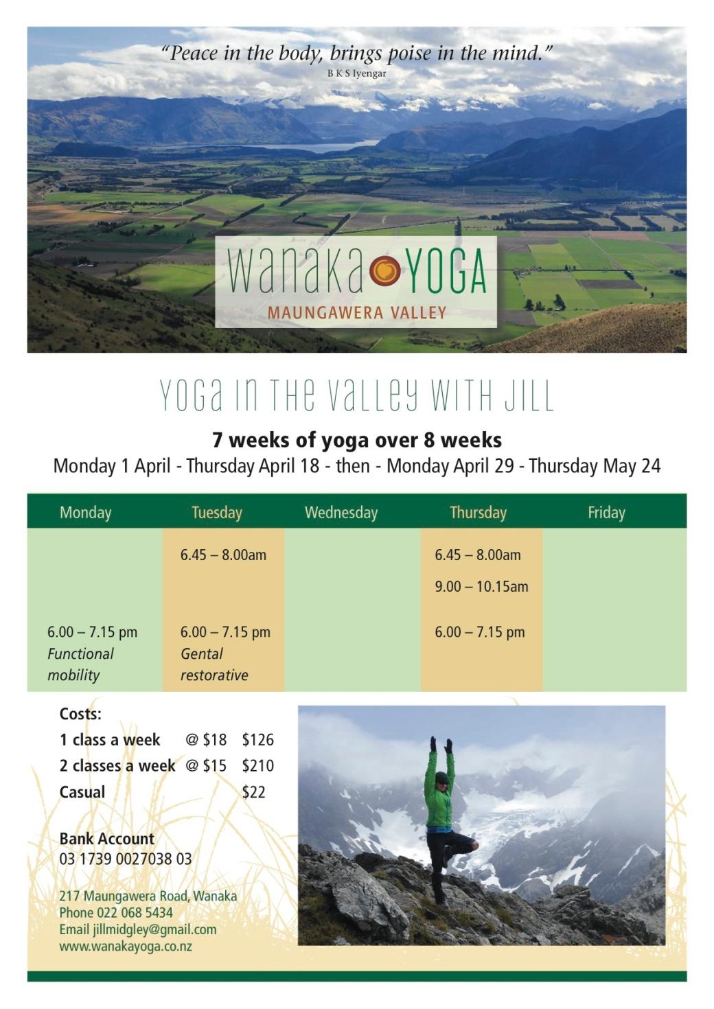 Wanaka Yoga timetable March (1) copy